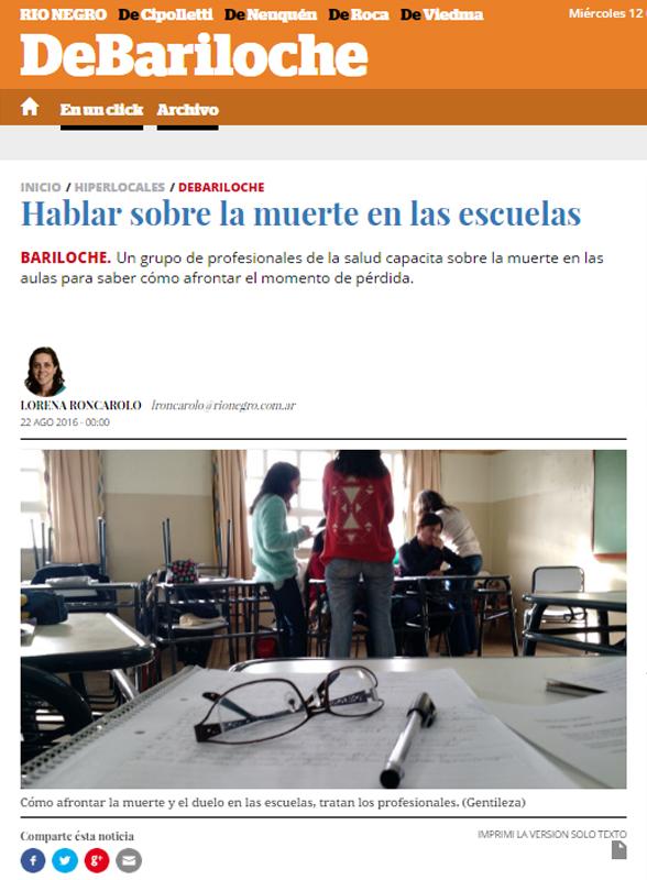 Hablar sobre la muerte en las escuelas - www,rionegro.com.ar