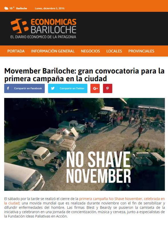Movember Bariloche: gran convocatoria para la primera campaña en la ciudad