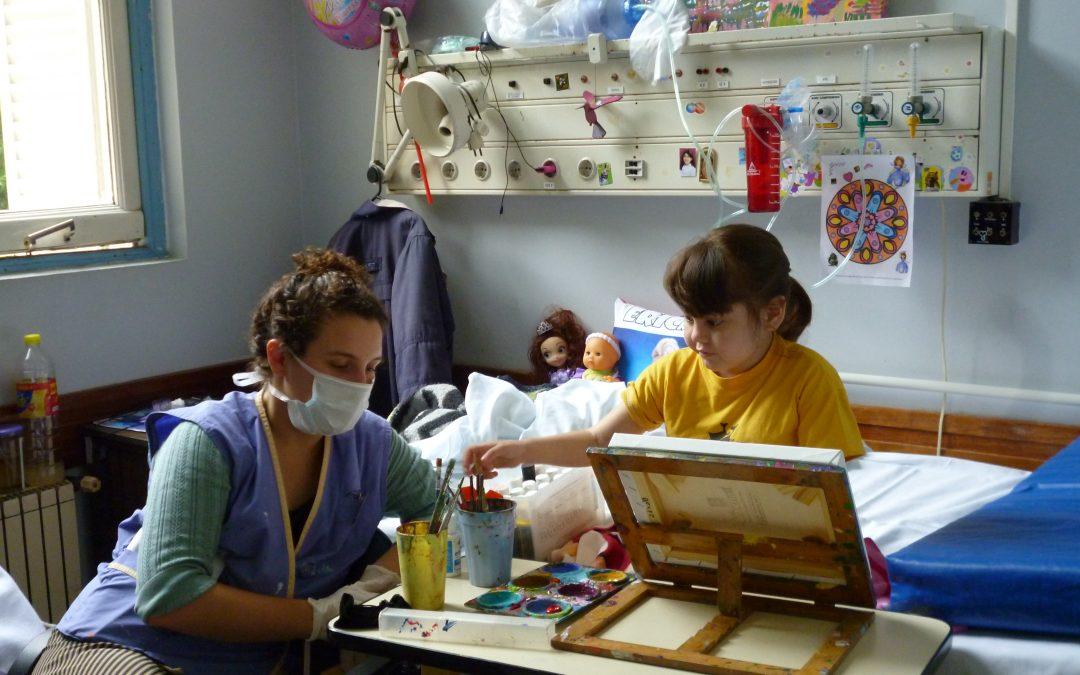 """""""Cuando veo a un chico en el hospital conectado con su pintura para mi es una revelación"""""""