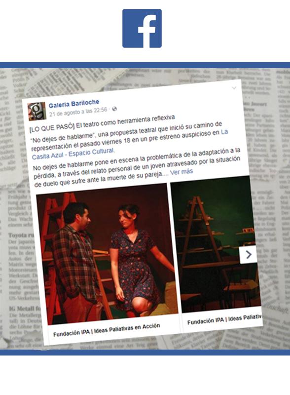 """Prensa - Obra de teatro """"No dejes de mirarme"""""""