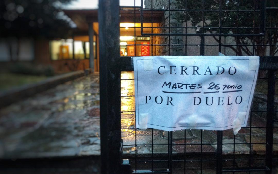 Escuela cerrada por duelo,  escuela abierta para una oportunidad